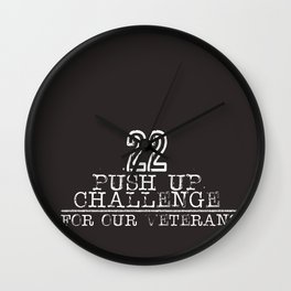 22 for Veterans Wall Clock