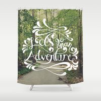 adventure Shower Curtains featuring Adventure by Hugh & West