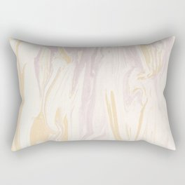 Liquid Rose Gold Marble Rectangular Pillow