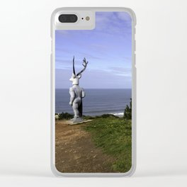 Veado Surfer Statue Clear iPhone Case