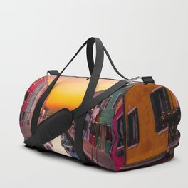 Venice Italy Boats Sunset Photography Duffle Bag