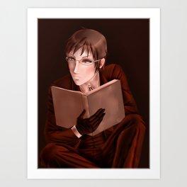 Alan Humphries Reading Color Challenge Art Print