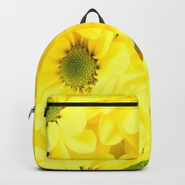 Black Cat Yellow Flowers Spring Mood #decor #society6 #buyart Backpack