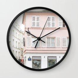 Pink house Wall Clock