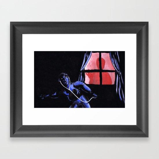"""Scariest Listening Experiences"" by Cap Blackard Framed Art Print"