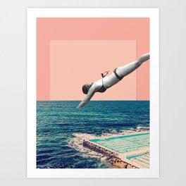 Pool Dive Art Print