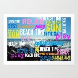 Summer Beach Time Fun Art Print