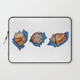Three Seashells Laptop Sleeve