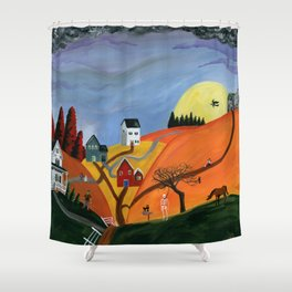 Hilly Haunting Shower Curtain