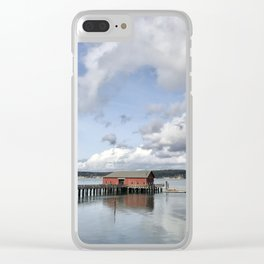 Coupeville on Whidbey Island Pacific Northwest Clear iPhone Case
