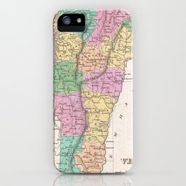 Vintage Map of Vermont (1827) iPhone Case