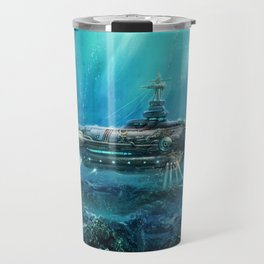 Steampunk Submarine Travel Mug