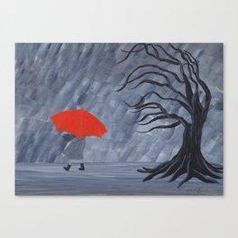 Orange Umbrella Canvas Print