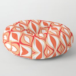 Mid-Century Modern Diamonds, Orange and White Floor Pillow