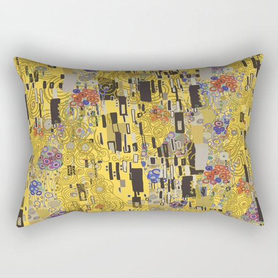 Gold Explosion Rectangular Pillow