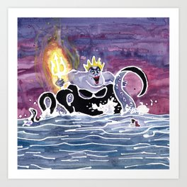 Ursula the Sea Witch Art Print
