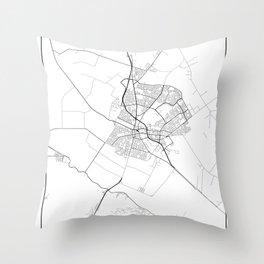 Minimal City Maps - Map Of Salinas, California, United States Throw Pillow