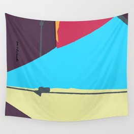 Kite—Aubergine Wall Tapestry