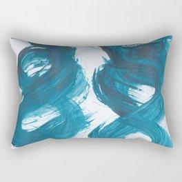 Spiral, Abstract, Blue Duck Rectangular Pillow
