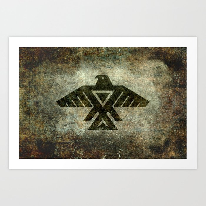 Thunderbird, Emblem of the Anishinaabe people Art Print