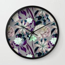 Flowery vintage pattern 0I Wall Clock