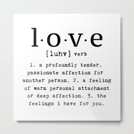 The Meaning Of Love Metal Print