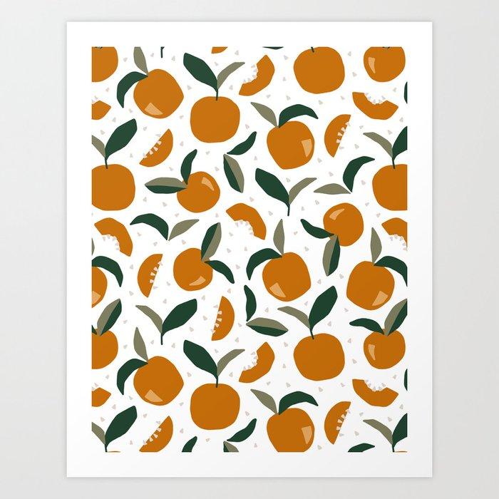 Mid Century Modern Abstract Oranges Art Print