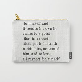 Fyodor Dostoyevsky quote Carry-All Pouch