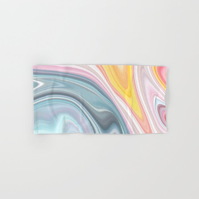 Marble Waves Hand & Bath Towel