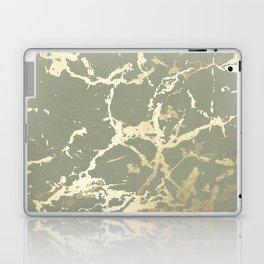 Kintsugi Ceramic Gold on Green Tea Laptop & iPad Skin