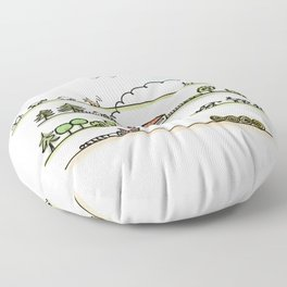Country Life Floor Pillow