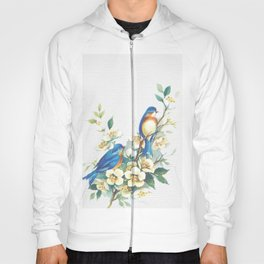 Floral Birds Hoody