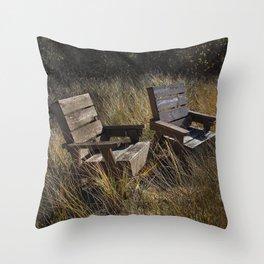 Adirondack Chairs Michigan Throw Pillow