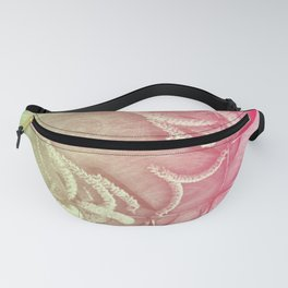 Pink and green wattle and kaleidoscope Fanny Pack