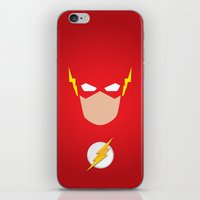 the flash iPhone & iPod Skins featuring FLASH by Roboz