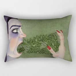 Don't Put Words In My Mouth Rectangular Pillow