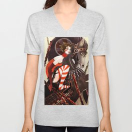 Amanda Palmer Six of Wands Unisex V-Neck