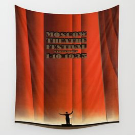 Vintage poster - Moscow Theatre Festival Wall Tapestry