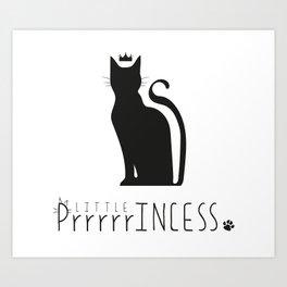 LITTLE PrrrrrINCESS Art Print