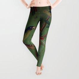 Green Dream Chinoiserie Leggings