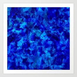 Cobalt Facets Art Print