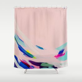 Wild Ones #1 - abstract painting Shower Curtain