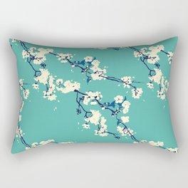 Cherry blossoms in Aqua Rectangular Pillow