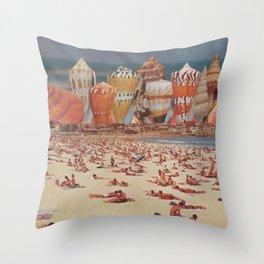 Bondi Sand Castles Throw Pillow