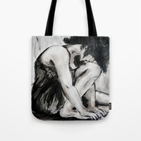 dancer Tote Bags featuring Dancer by TwistedPalace