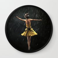 dancer Wall Clocks featuring DANCER by Ryan Laing