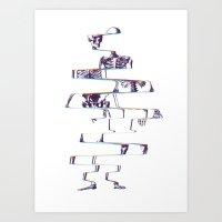 skeleton Art Prints featuring Skeleton by Ali GULEC