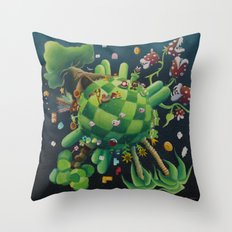 The consoling planet Throw Pillow
