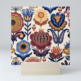 Folk Art Floral Mini Art Print
