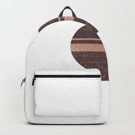 Minimal Abstract Greek Vase 7 - Aryballos - Terracotta Series - Modern, Contemporary Print - Taupe Backpack